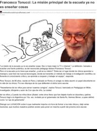 Educacionyculturaaz.com francesco tonucci la misi n principal de la escuela ya no es ense ar cosas.pdf