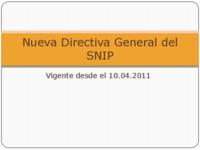 Presentac nueva directiva general del snip 2011 gn.pdf