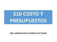 S10 costo y presupuesto mba arribasplata gutierrez alex frankz