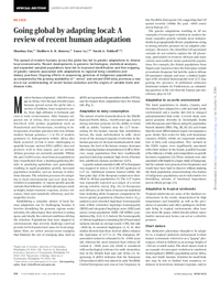 Going global by adapting local  a review of recent human evolution  pdf