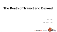 The death of transit and beyond  pdf